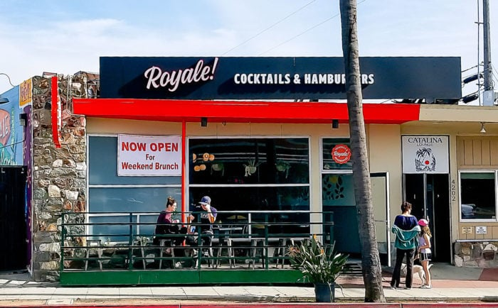 photo of the outside of Royale restaurant