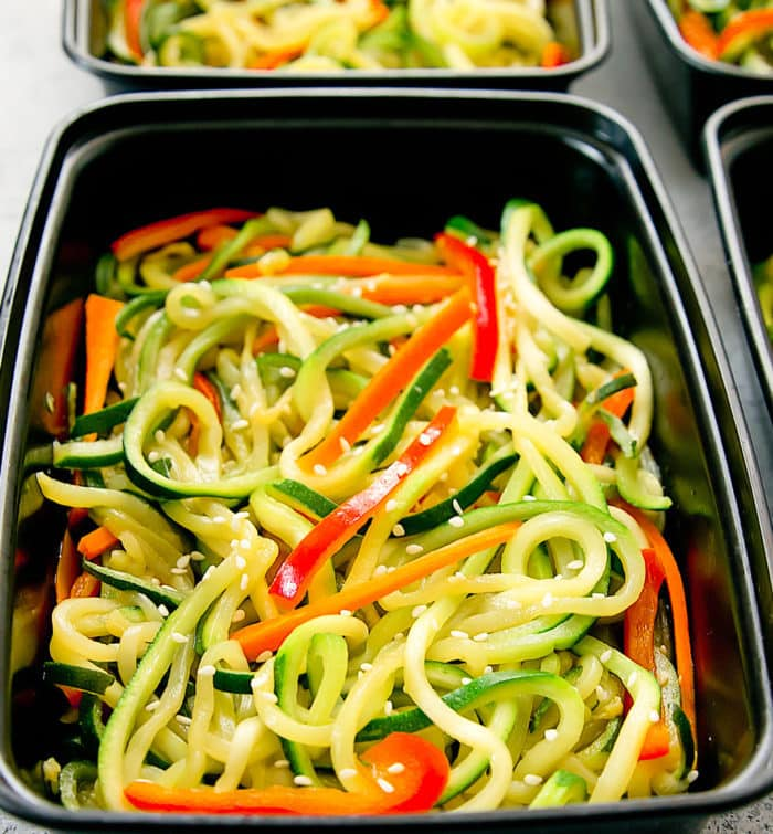 photo of one container of Zucchini Noodles Chow Mein