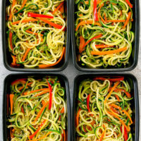 zucchini chow mein meal prep