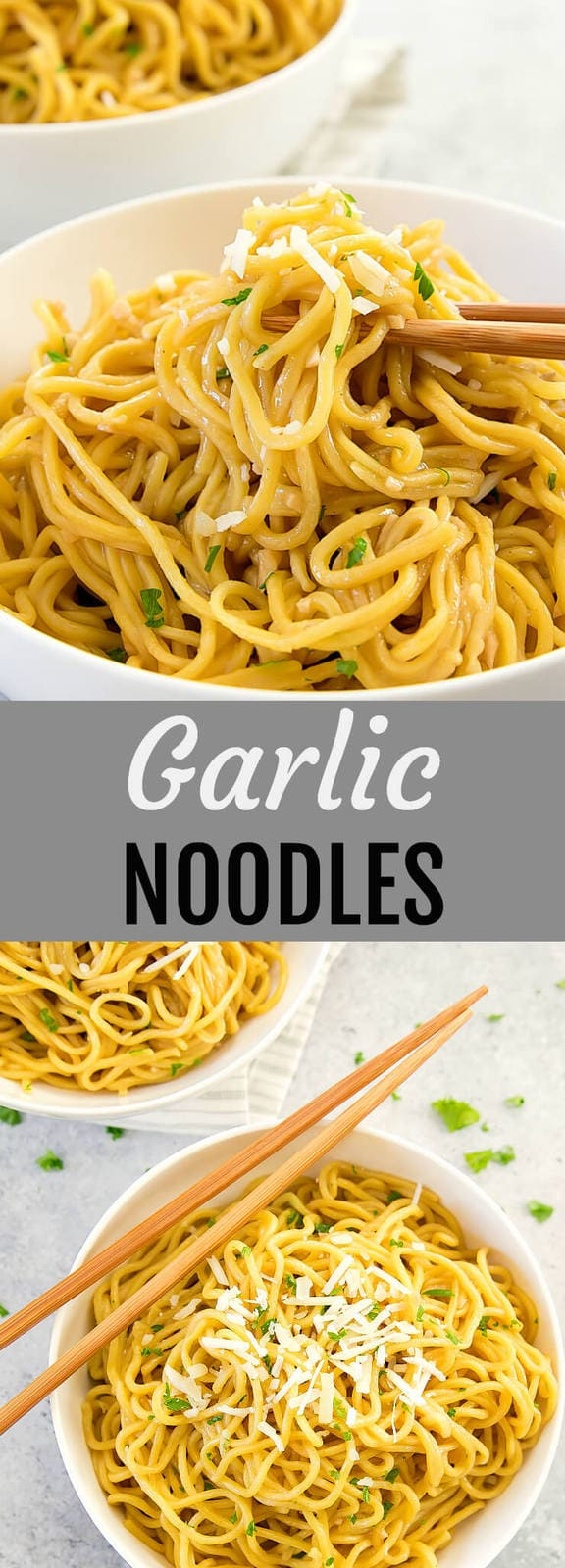 Garlic Noodles. Asian-style garlic butter noodles. Easy and ready in less than 30 minutes.