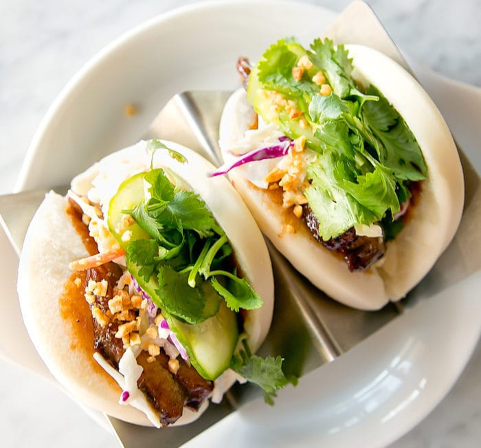 overhead photo of Duck Buns