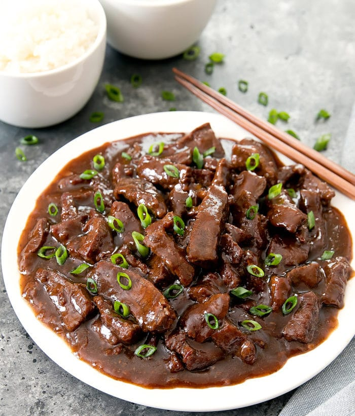 photo of  Mongolian Beef with chopsticks