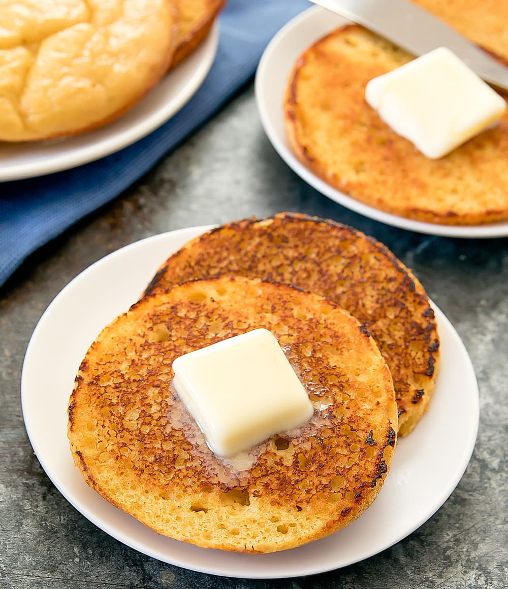 low carb paleo english muffins - kirbie's cravings