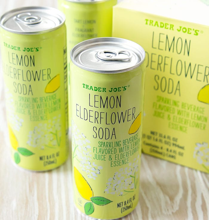 photo of two cans of Lemon Elderflower Soda