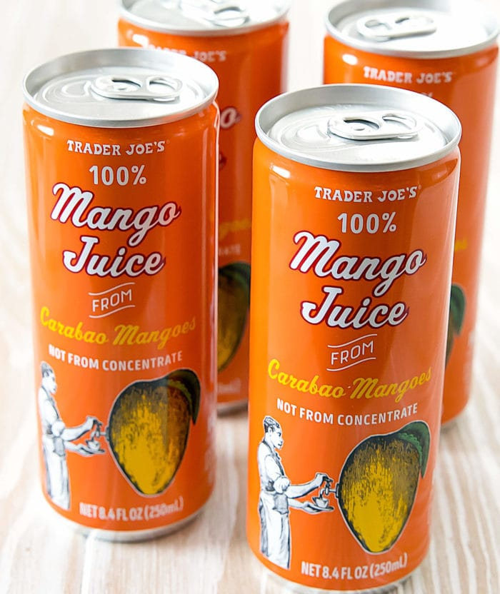photo of cans of Mango Juice