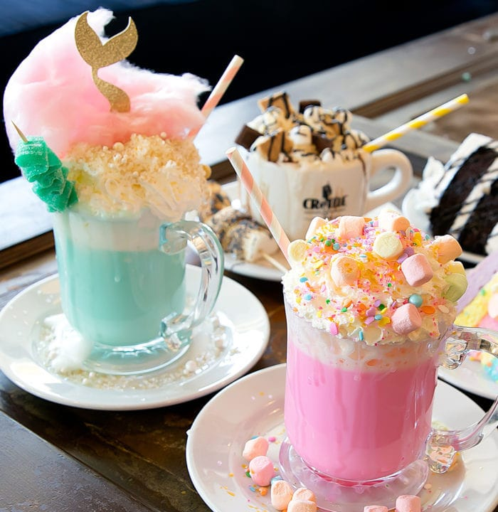 photo of Unicorn Hot Chocolate and Mermaid Hot Chocolate