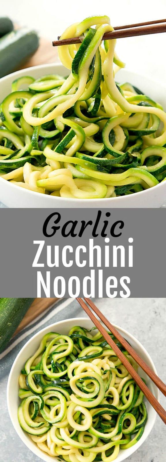 Garlic Zucchini Noodles