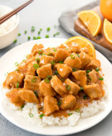 photo of orange chicken