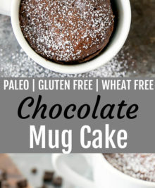 Chocolate Mug Cake (Paleo and Gluten Free)
