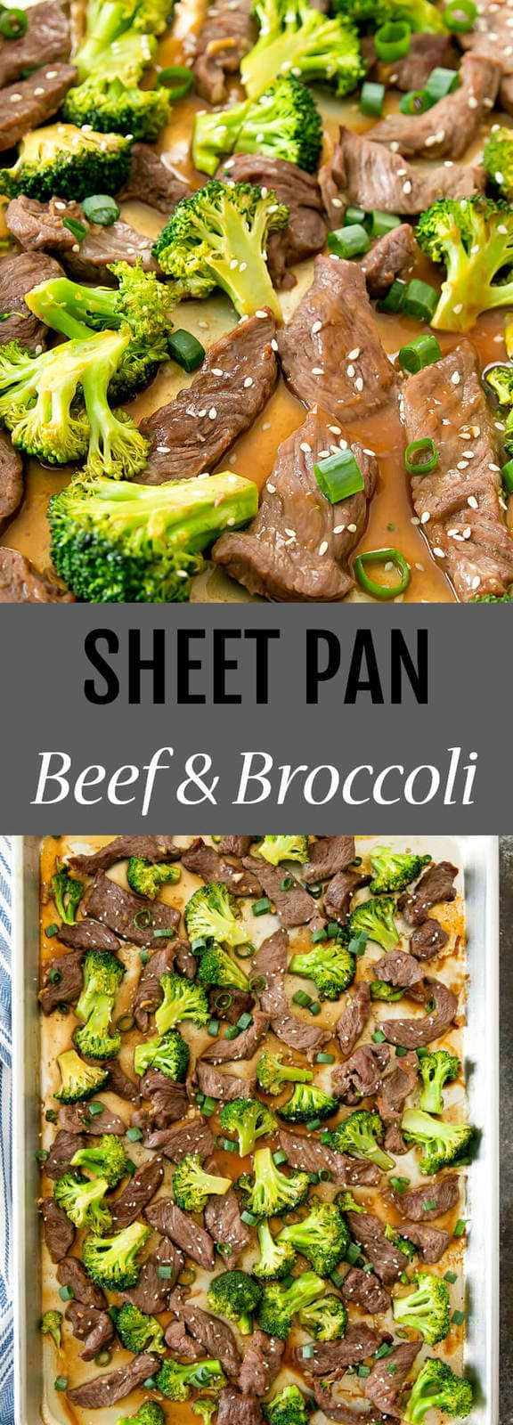 Sheet Pan Beef and Broccoli. This popular Chinese dish cooks on one sheet pan and is ready in less than 30 minutes for an easy meal.