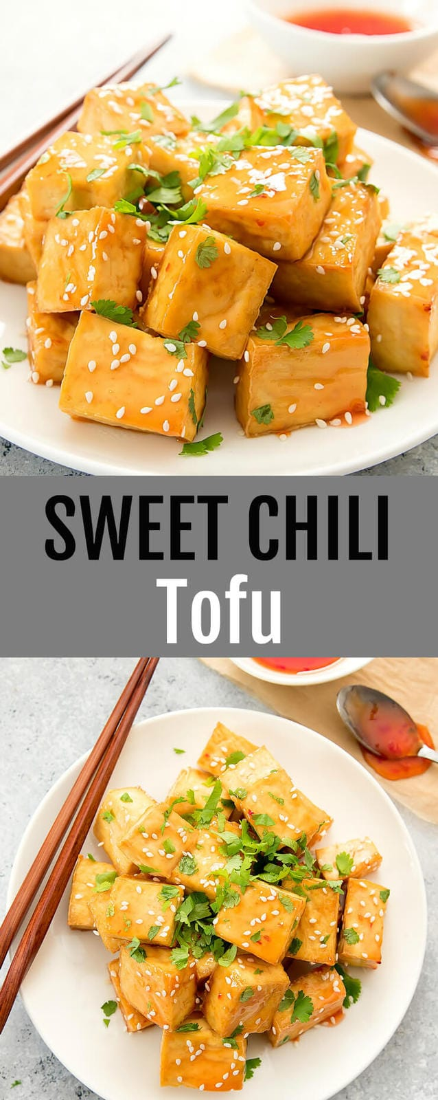 Sweet Chili Tofu. Crispy baked tofu is tossed in Thai sweet chili sauce for an easy and flavorful dish.