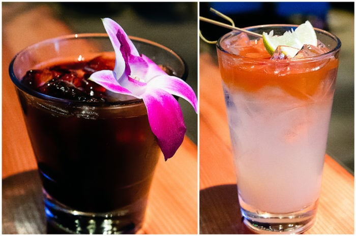 cocktails from Waterbar