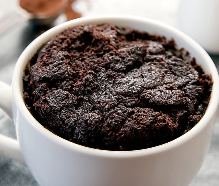 close-up photo of Flourless Chocolate Avocado Mug Cake