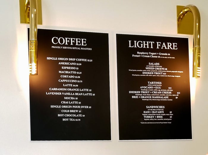 photo of the menu at Frost Me Cafe and Bakery