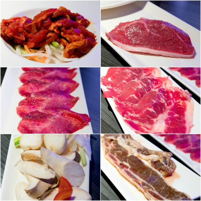 photo collage of the different kinds of meat