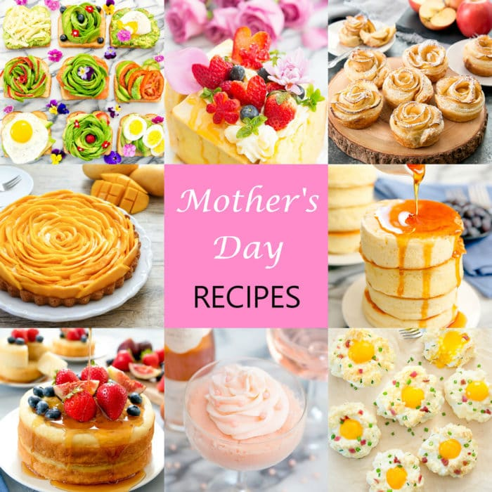 Photo collage of Mother's Day recipes