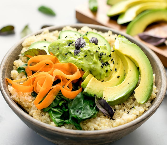 close-up photo of a Avocado Buddha Bowls