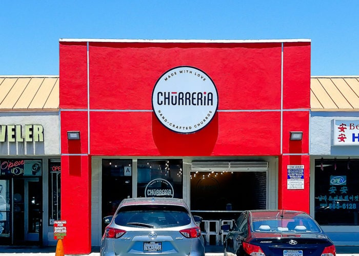 photo of the outside of The Churreria Cafe