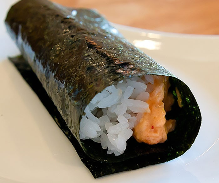 photo of Spicy Salmon hand roll
