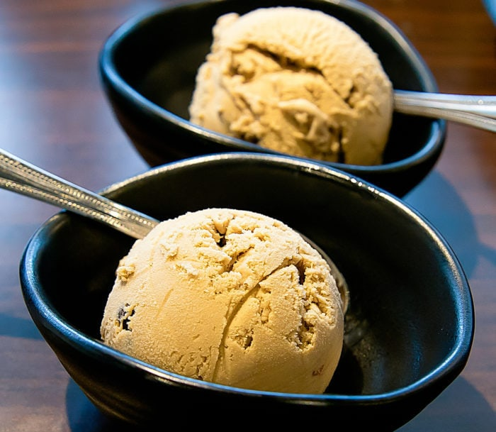photo of two bowls of coffee ice cream