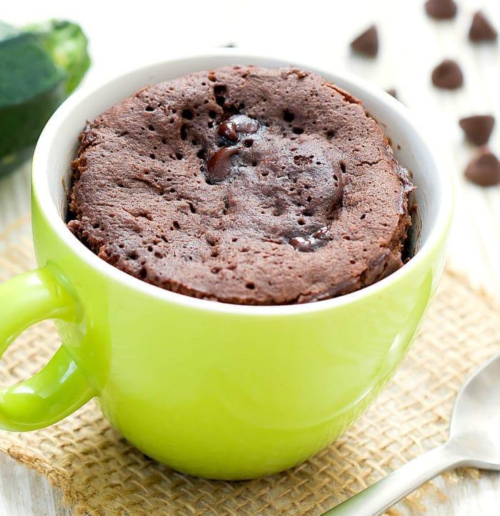 chocolate zucchini mug cake photo