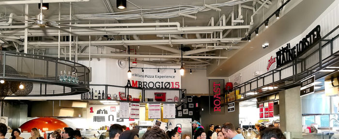 photo of the interior of Little Italy Food Hall