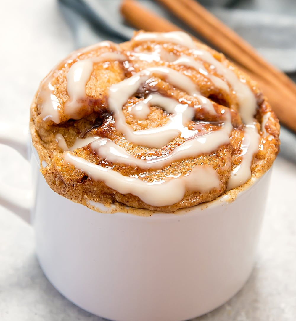 Paleo Cinnamon Roll Mug Cake Kirbie S Cravings