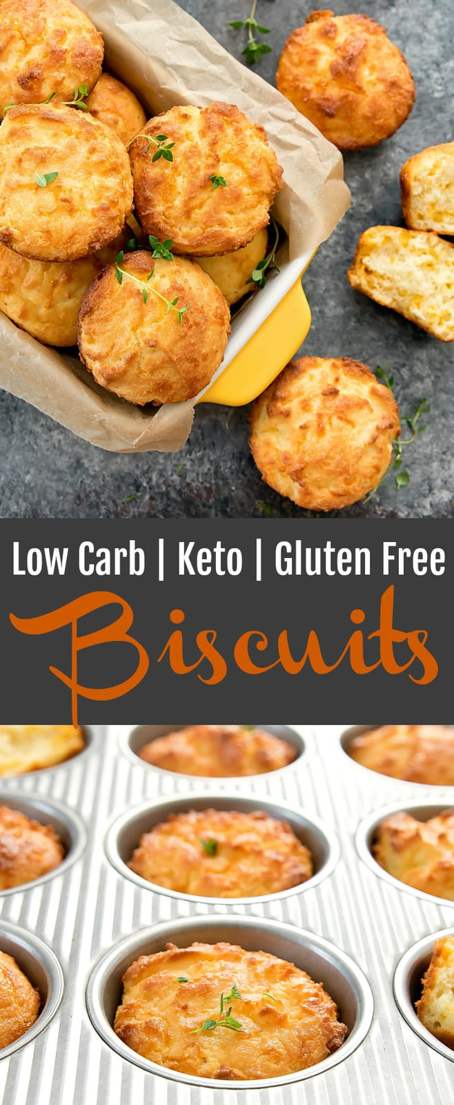 Low Carb Keto Biscuits. These biscuits are so tender and fluffy, you won't believe they are flourless. They are easy and ready in less than 30 minutes.