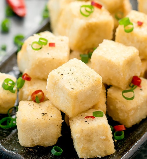 photo of salt and pepper tofu