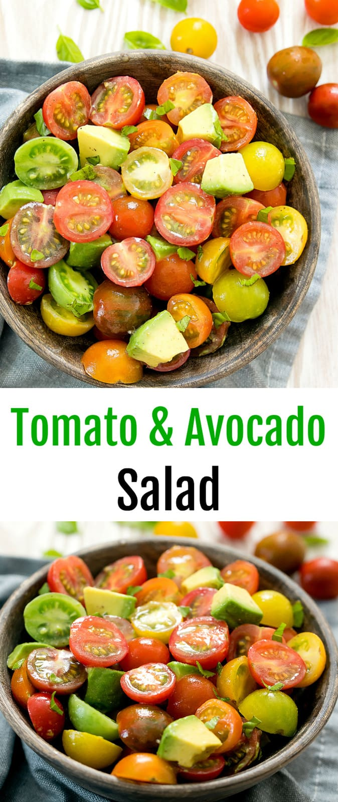 Tomato Avocado Salad. An easy simple salad that is very tasty and perfect for summer. #tomatosalad #tomatoavocado #summersalad