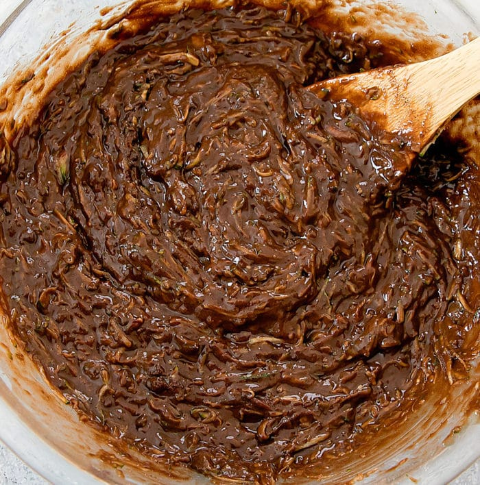 prep photo of zucchini brownie batter