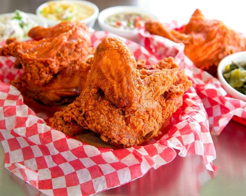 photo of a basket of Hot Chicken from Hattie B's