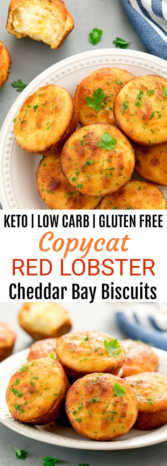 Keto Low Carb Copycat Red Lobster Cheddar Bay Biscuits. These biscuits are tender, fluffy and taste like the restaurant version.