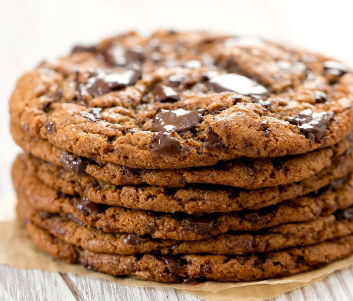 close-up photo of stack of cookies