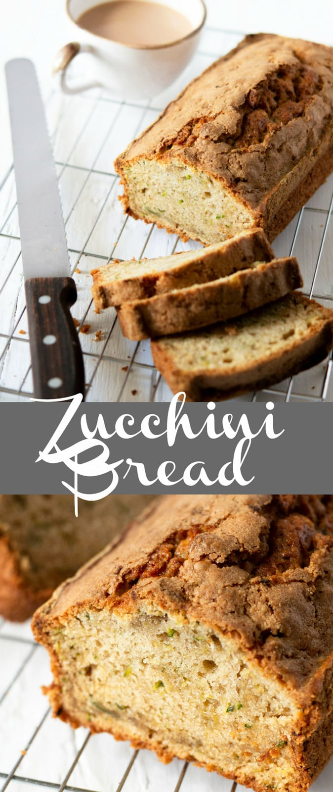 Zucchini Bread. Very moist and tender quick bread. Easy to make, no mixer required. This is my go-to zucchini bread recipe.