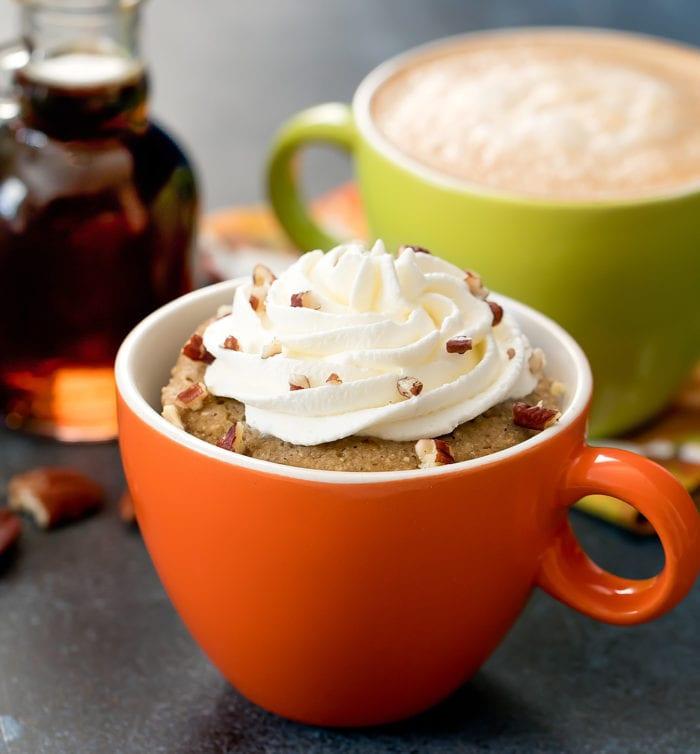 Paleo Maple Pecan Latte Mug Cake