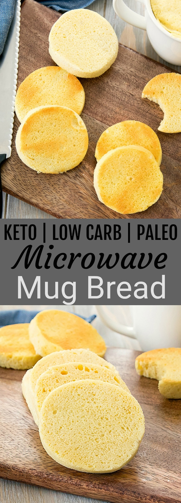 Microwave Mug Bread. Low carb, keto, paleo, gluten free. This easy bread cooks in about 2 minutes!