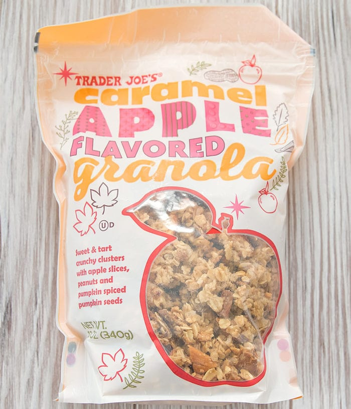 package of caramel apple granola