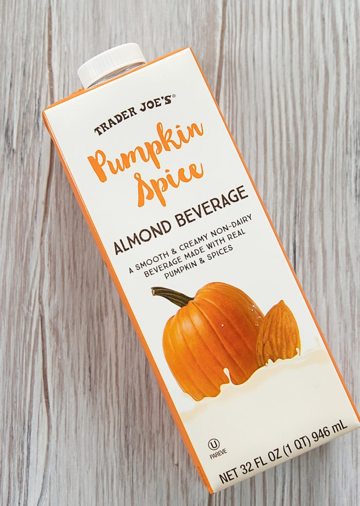 pumpkin spice almond beverage bottle