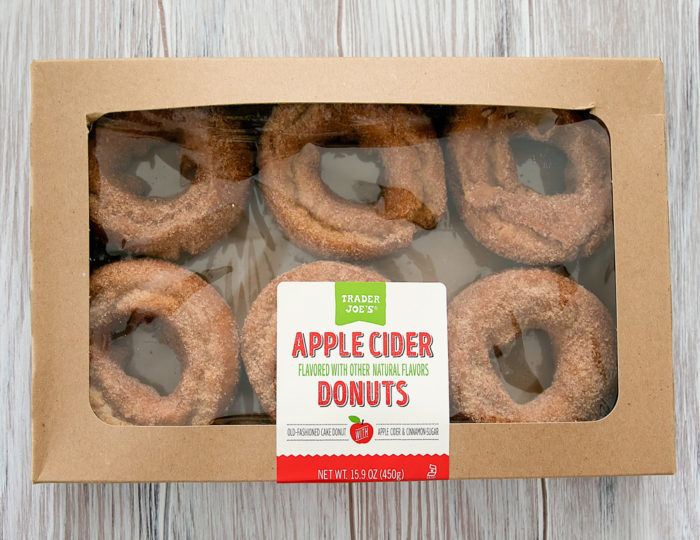 box of apple cider donuts