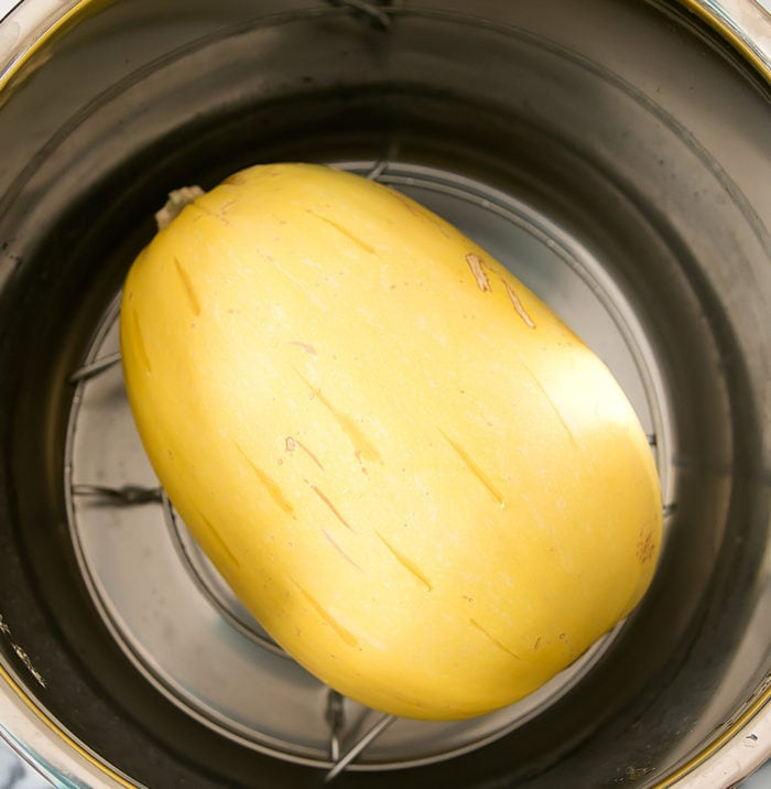 photo of a spaghetti squash in an Instant Pot