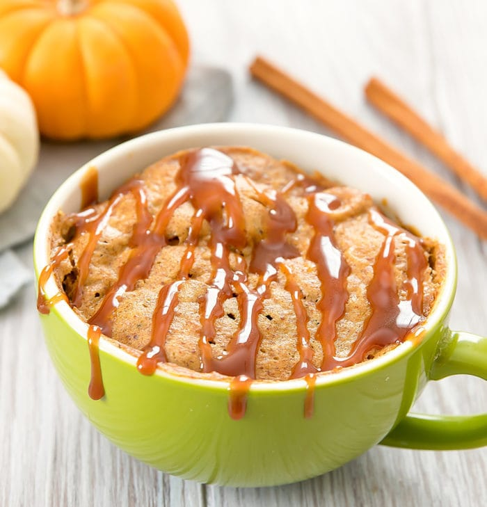 photo of a Flourless Pumpkin Mug Cake