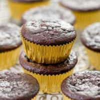 flourless nutella muffins