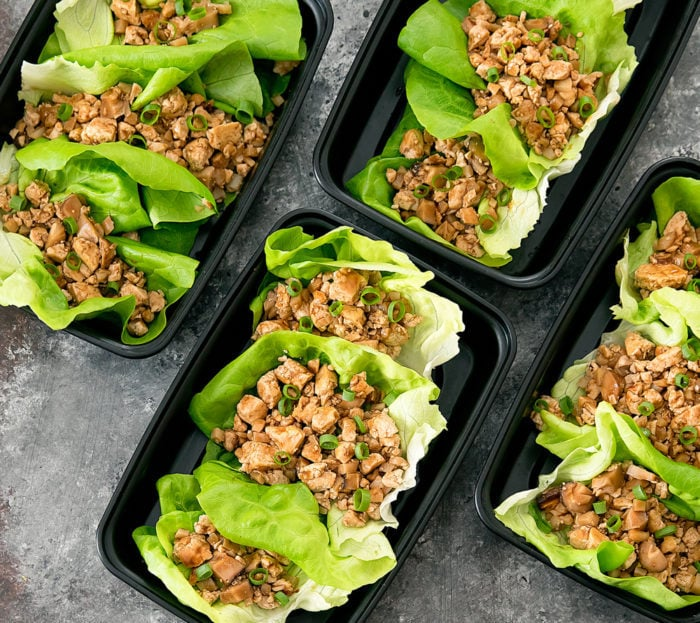 overhead photo of lettuce wraps