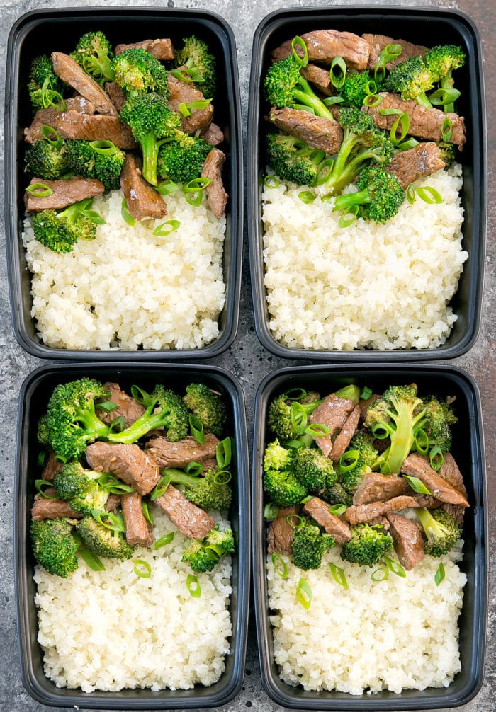 Beef and Broccoli Meal Prep (Keto Low Carb)