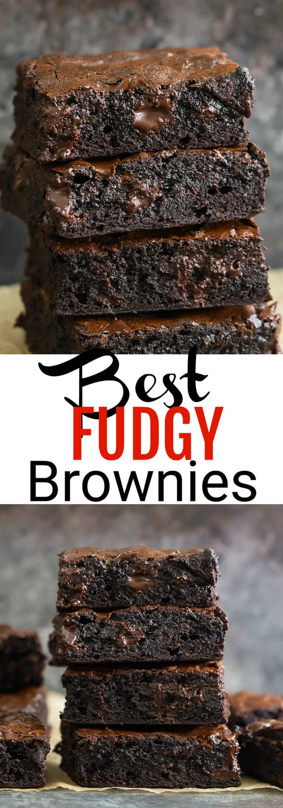 Best Fudgy Brownies. These brownies are ultra fudgy, chewy and have a shiny crackly top. I'm also sharing tips and tricks for making brownie variations, cutting brownies and achieving that shiny top.