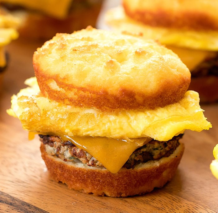 Keto Biscuit Breakfast Sandwiches