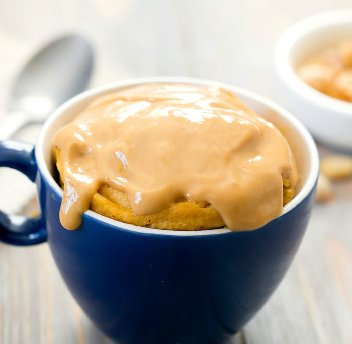 3 Ingredient Keto Peanut Butter Mug Cake