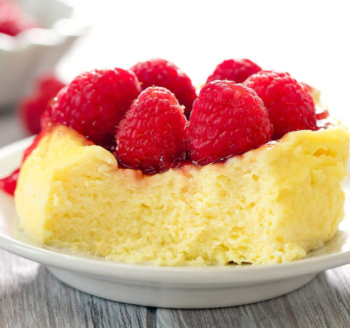 photo of keto microwave cheesecake