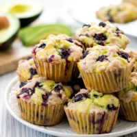 photo of avocado blueberry muffins